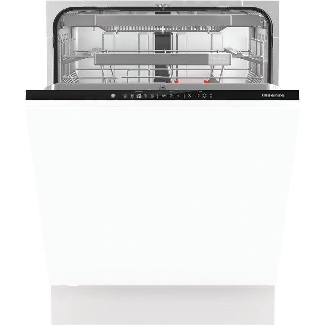 Hisense HV672C60UK Fully Integrated Standard Dishwasher - Black - HV672C60UK_BK - 1