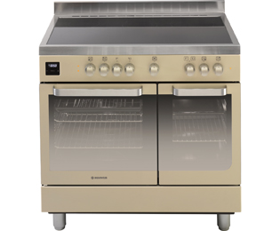 Hoover 90cm Electric Range Cooker with Ceramic Hob - Ivory Cream - A/A Rated