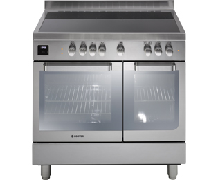 Hoover 90cm Electric Range Cooker with Ceramic Hob - Stainless Steel - A/A Rated