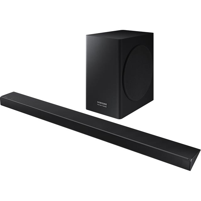 Samsung HW-Q60R/XU Bluetooth Soundbar with Wireless Subwoofer - Charcoal Black - HW-Q60R/XU - 1
