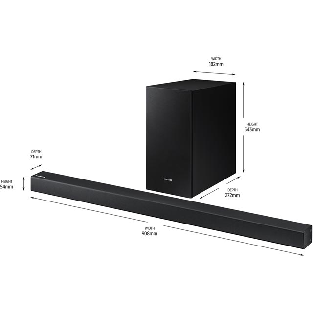 Samsung HW-R430 Bluetooth Soundbar with Wireless Subwoofer - Black - HW-R430 - 3