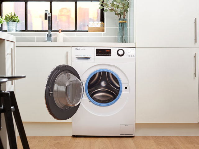 haier washing machine haier hw100 b14636 hatrium a 10kg washing machine white 12985