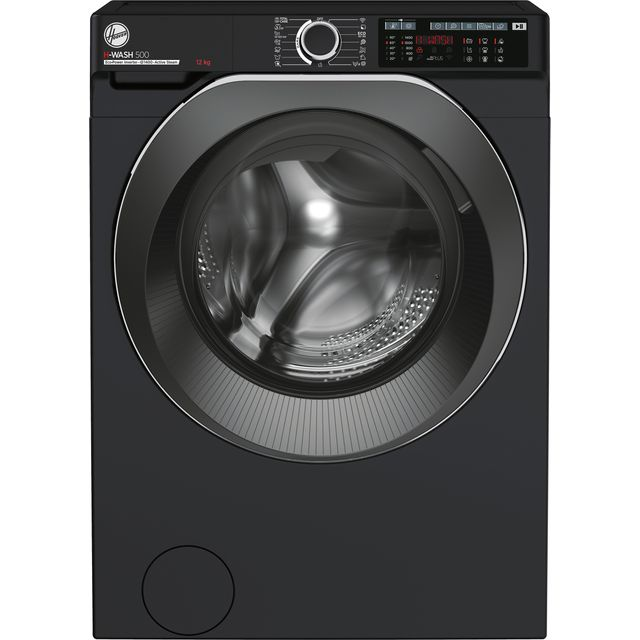 Hoover H-WASH 500 HW412AMBCB/1 Wifi Connected 12Kg Washing Machine with 1400 rpm - Black - A+++ Rate