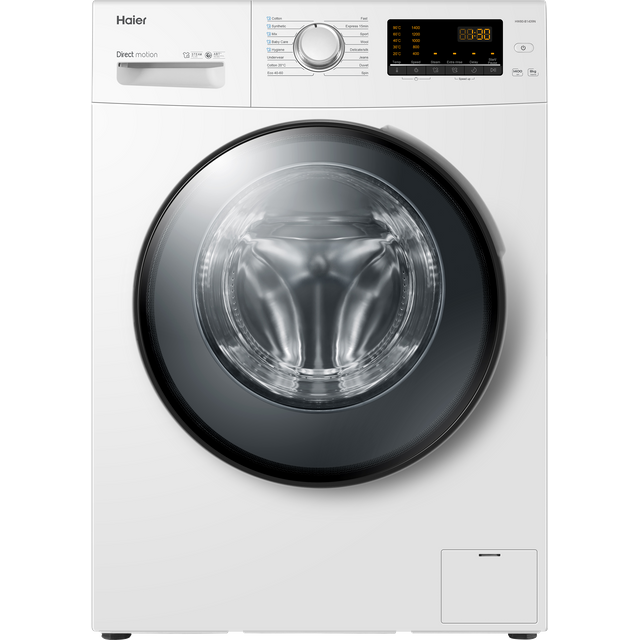 Haier HW100-B1439N 10Kg Washing Machine - White - HW100-B1439N_WH - 1