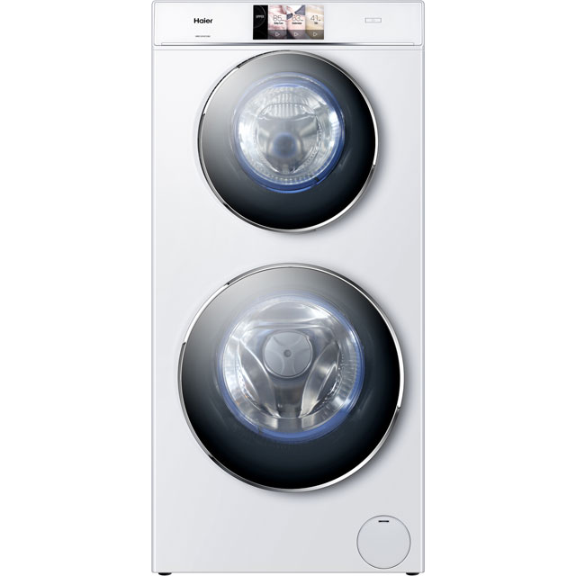 Haier DUO HWD120-B1558U 12Kg / 4Kg Washer Dryer with 1500 rpm - White - A Rated - HWD120-B1558U_WH - 1