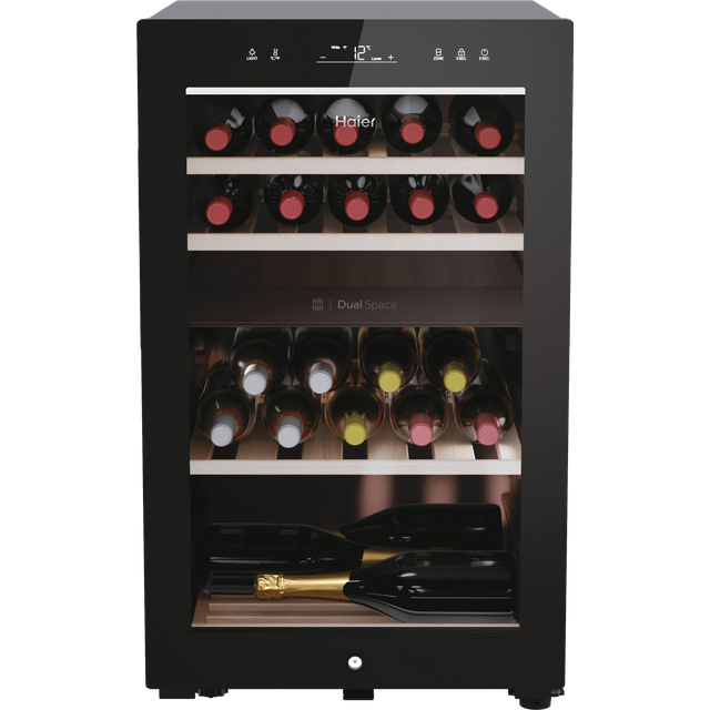 Haier HWS42GDAU1 Wine Cooler - Black - A Rated