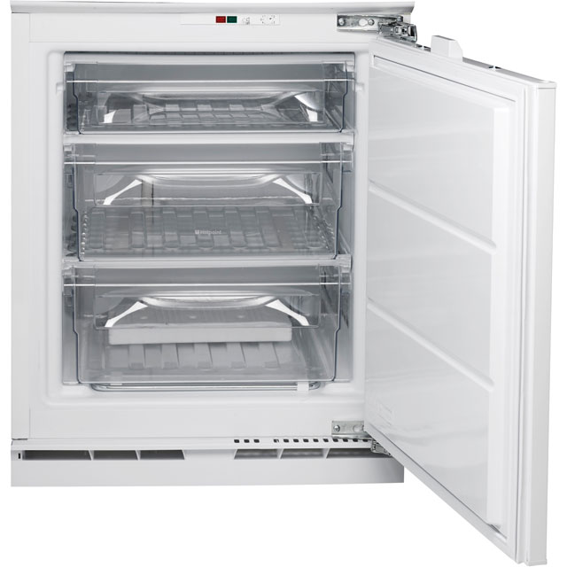 Hotpoint Aquarius HZA1.1 Integrated Under Counter Freezer with Fixed Door Fixing Kit - A+ Rated - HZA1.1_WH - 1