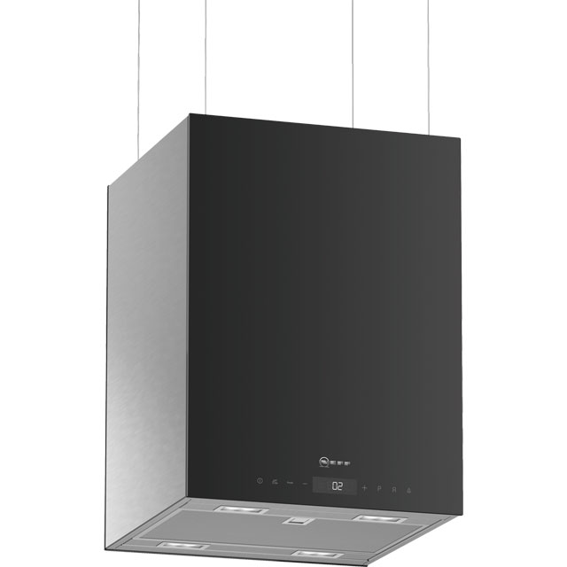 NEFF N90 I38KHV2S0 Wifi Connected 37 cm Island Cooker Hood - Black - N/A Rated - I38KHV2S0_BK - 1