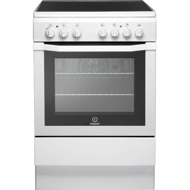 Indesit I6VV2AW Electric Cooker with Ceramic Hob - White - A Rated - I6VV2AW_WH - 1