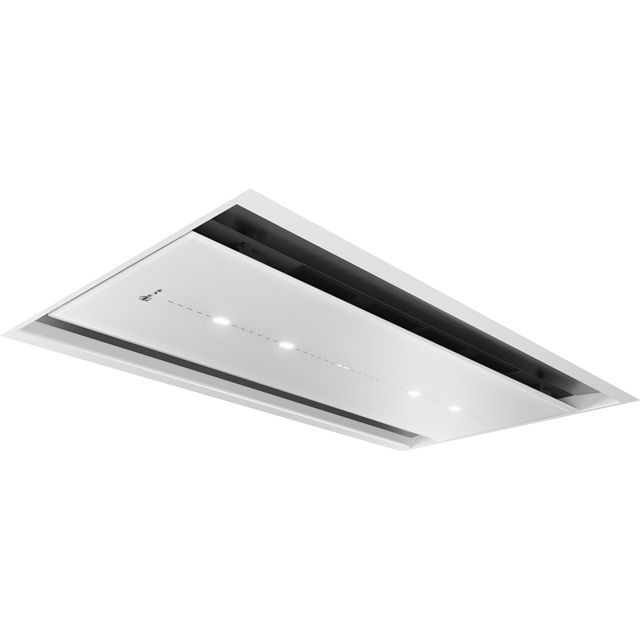 NEFF N90 I97CPS8W5B 90 cm Ceiling Cooker Hood - White Glass - A Rated - I97CPS8W5B_WH - 1