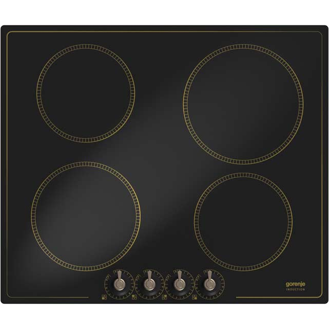 Gorenje Classico Collection IC634CLB 60cm Induction Hob - Black - IC634CLB_BK - 1