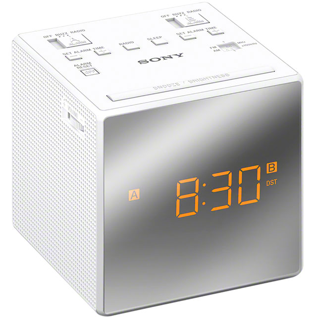 Sony ICFC1TW.CEK Digital Radio with FM Tuner - White - ICFC1TW.CEK - 1
