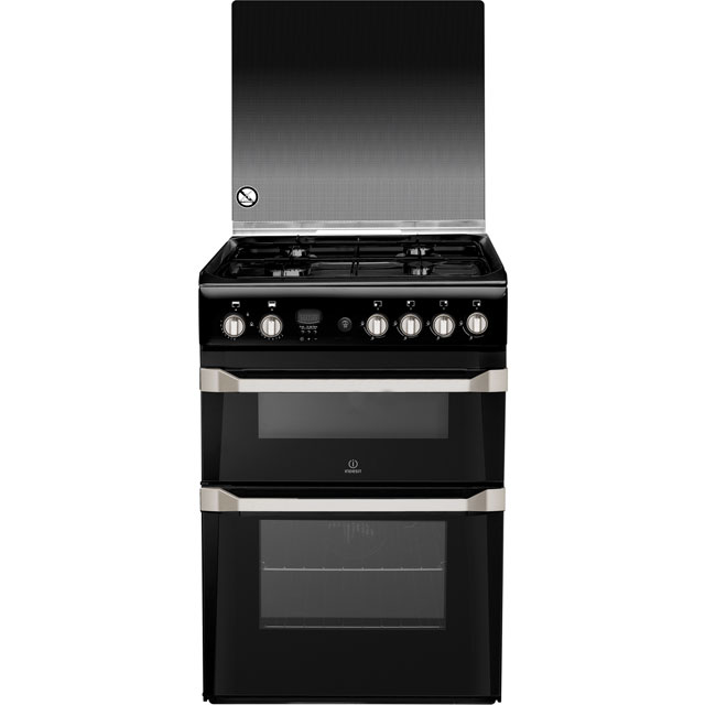 Indesit Advance Gas Cooker - Black - A+ Rated