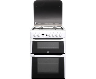 Indesit Advance ID60G2W Gas Cooker - White - A+/A Rated - ID60G2W_WH - 1