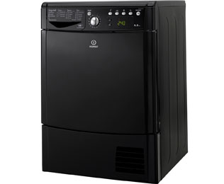 Indesit Eco Time IDCE8450BKH 8Kg Condenser Tumble Dryer - Black - B Rated - IDCE8450BKH_BK - 1