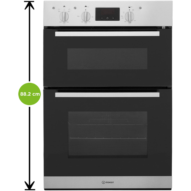 Indesit Aria IDD6340IX Built In Double Oven - Stainless Steel - IDD6340IX_SS - 2