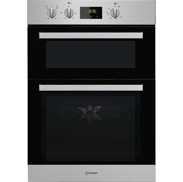 Indesit Aria IDD6340IX Integrated Double Oven in Stainless Steel