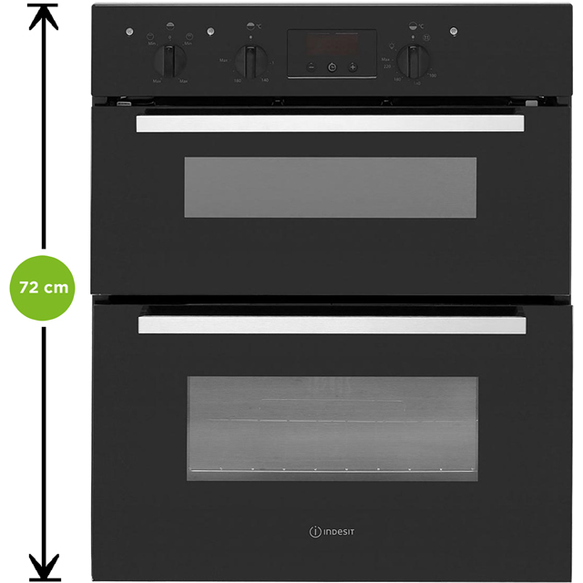 Indesit Aria IDU6340BL Built Under Double Oven - Black - IDU6340BL_BK - 2