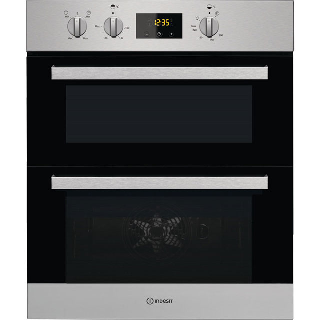 Indesit Aria Built Under Double Oven in Stainless Steel