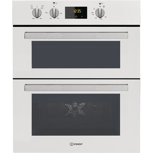 Indesit Aria IDU6340WH Built Under Double Oven in White