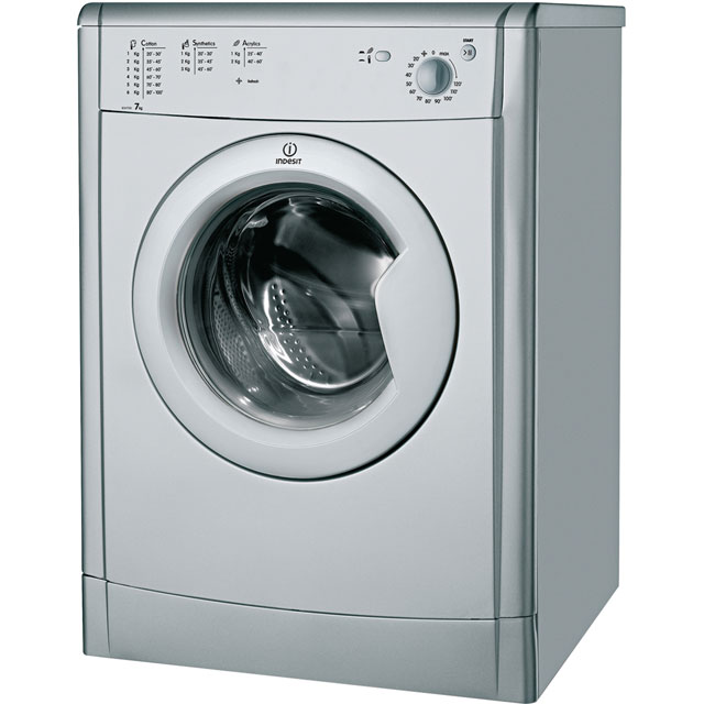 Indesit Eco Time IDV75S Free Standing Vented Tumble Dryer in Silver
