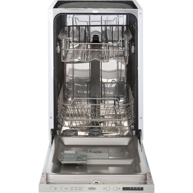 Belling IDW45 Fully Integrated Slimline Dishwasher - Stainless Steel Control Panel - A++ Rated