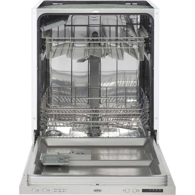 Belling Fully Integrated Standard Dishwasher - Stainless Steel with Fixed Door Fixing Kit - A++ Rated