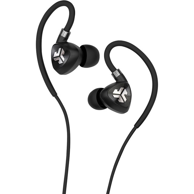 JLAB Fit 2.0 In-ear Water Resistant Wireless Sports Headphones - Black - IENEBFIT2RBLK123 - 1