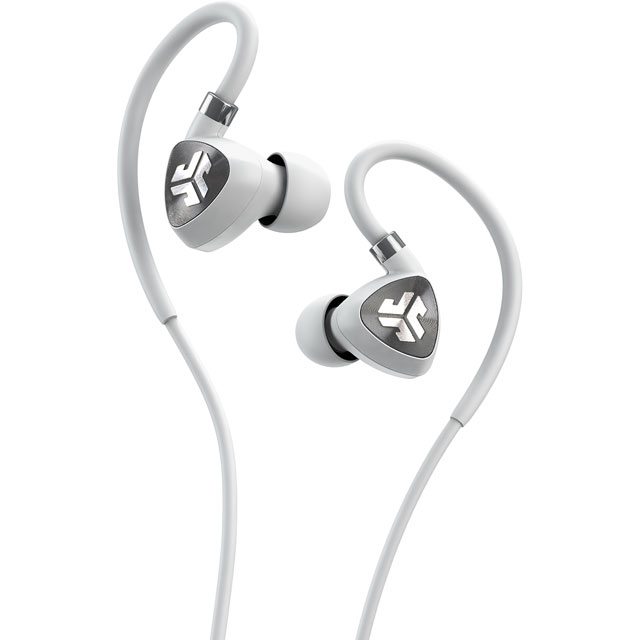 JLAB Fit 2.0 In-ear Water Resistant Wireless Sports Headphones - White / Grey - IENEBFIT2RWHTGRY123 - 1