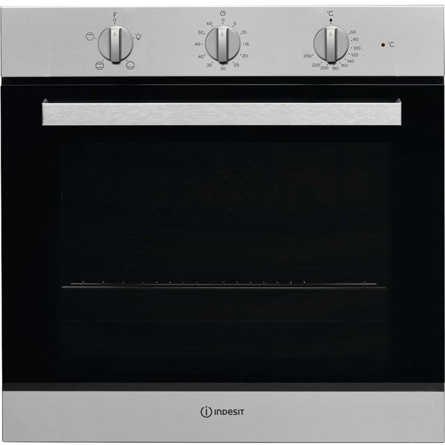 Indesit Aria IFW6230IX Built In Electric Single Oven - Stainless Steel - A Rated - IFW6230IX_SS - 1