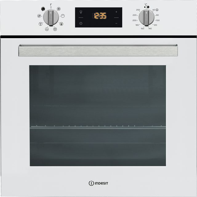 Indesit Aria IFW6340WH Built In Electric Single Oven - White - A Rated - IFW6340WH_WH - 1
