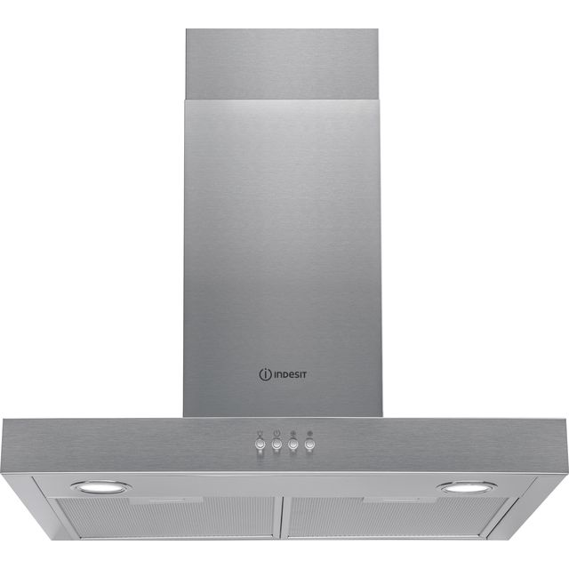Indesit IHBS6.5LMX 60 cm Chimney Cooker Hood - Stainless Steel - D Rated - IHBS6.5LMX_SS - 1