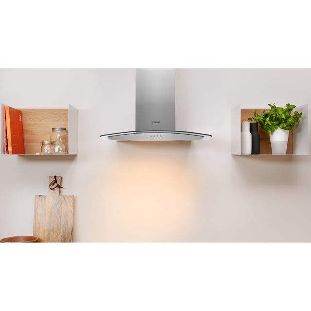 Indesit IHGC6.5LMX 60 cm Chimney Cooker Hood - Stainless Steel - IHGC6.5LMX_SS - 2