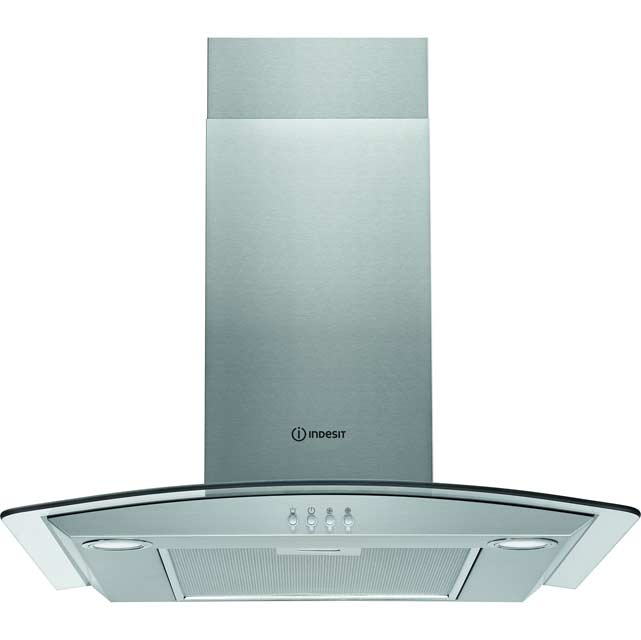 Indesit Aria 60 cm Chimney Cooker Hood - Stainless Steel - D Rated