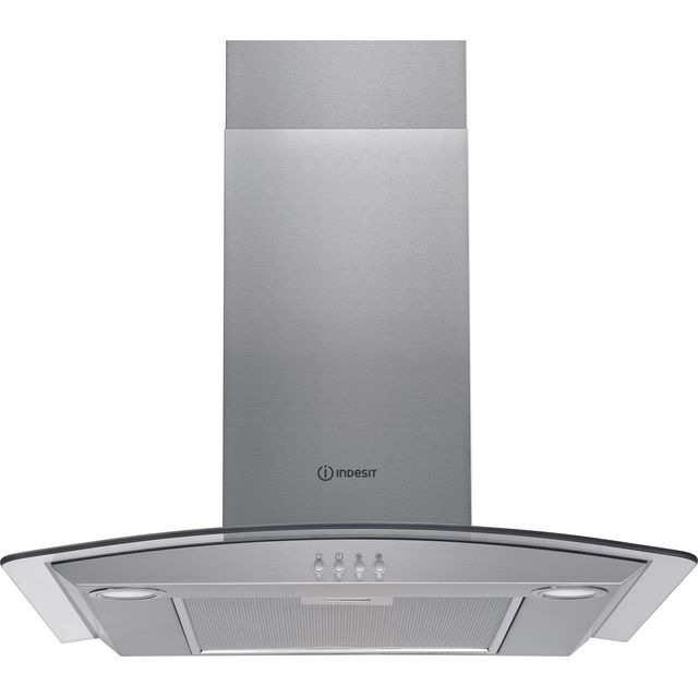 Indesit IHGC6.5LMX 60 cm Chimney Cooker Hood - Stainless Steel - D Rated - IHGC6.5LMX_SS - 1