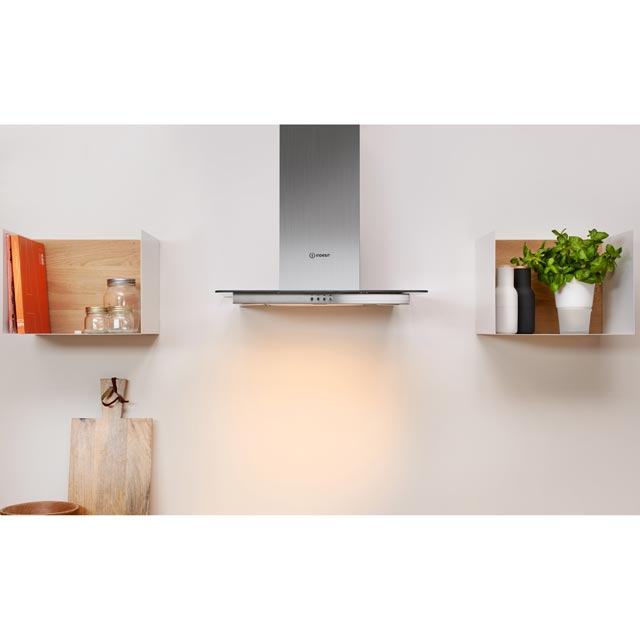 Indesit IHF6.5LMX 60 cm Chimney Cooker Hood - Stainless Steel - IHF6.5LMX_SS - 2