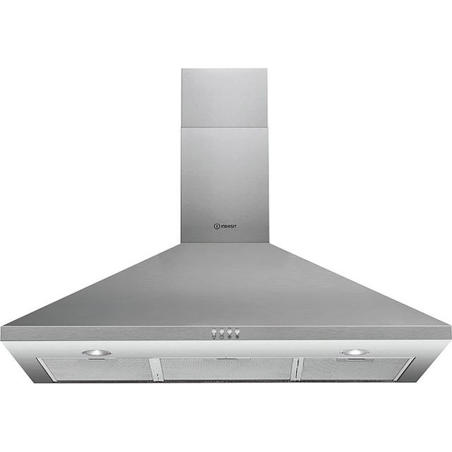 Indesit 90 cm Chimney Cooker Hood - Stainless Steel - D Rated