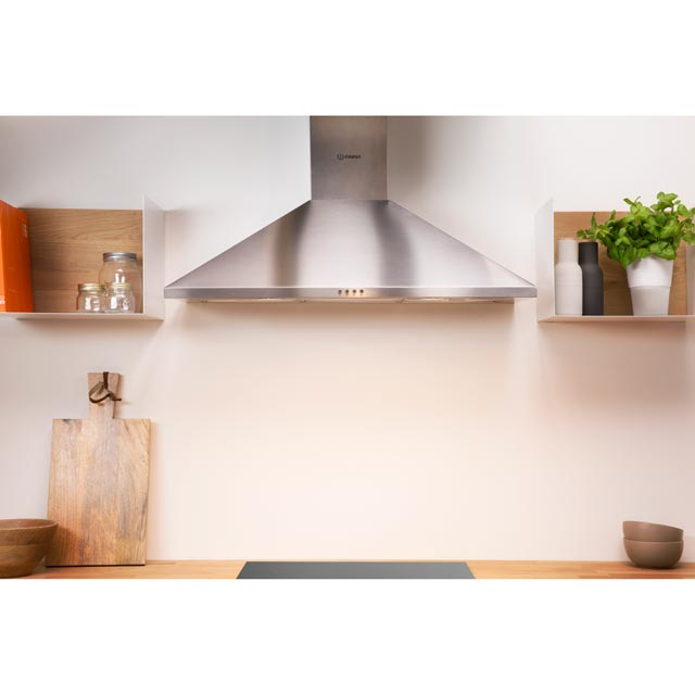 Indesit IHPC9.4LMX Built In Chimney Cooker Hood - Stainless Steel - IHPC9.4LMX_SS - 2