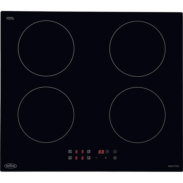 Belling IHT602 59cm Induction Hob - Black - IHT602_BK - 1
