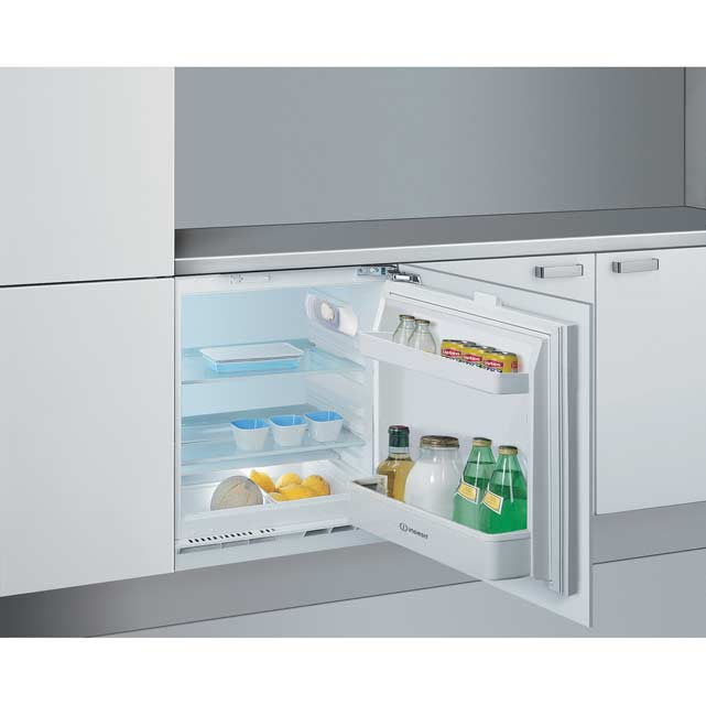 Indesit ILA1 Integrated Under Counter Fridge - Fixed Door Fixing Kit - A+ Rated - ILA1_WH - 1