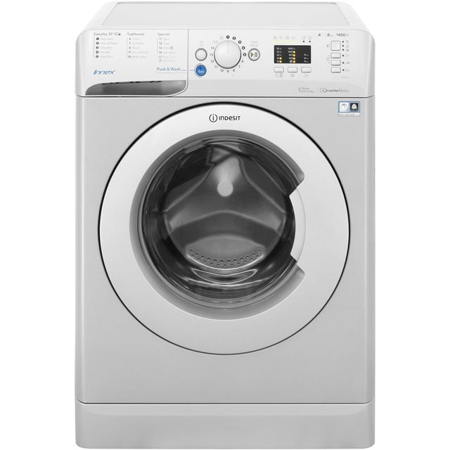 Indesit Innex BWA81483XSUK 8Kg Washing Machine with 1400 rpm - Silver - A+++ Rated - BWA81483XSUK_SI - 1