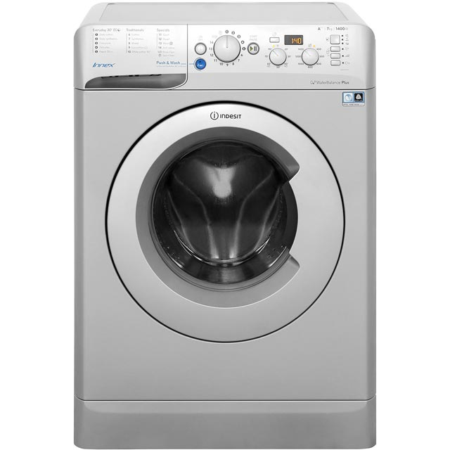 Indesit Innex BWD71453SUK 7Kg Washing Machine with 1400 rpm - Silver - A+++ Rated - BWD71453SUK_SI - 1