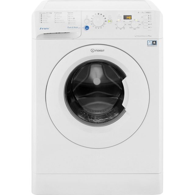 Indesit Innex BWD71453WUK 7Kg Washing Machine with 1400 rpm - White - A+++ Rated - BWD71453WUK_WH - 1