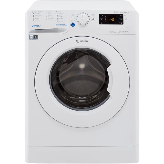 Indesit Innex BWE101684XWUK 10Kg Washing Machine with 1600 rpm - White - A+++ Rated - BWE101684XWUK_WH - 1
