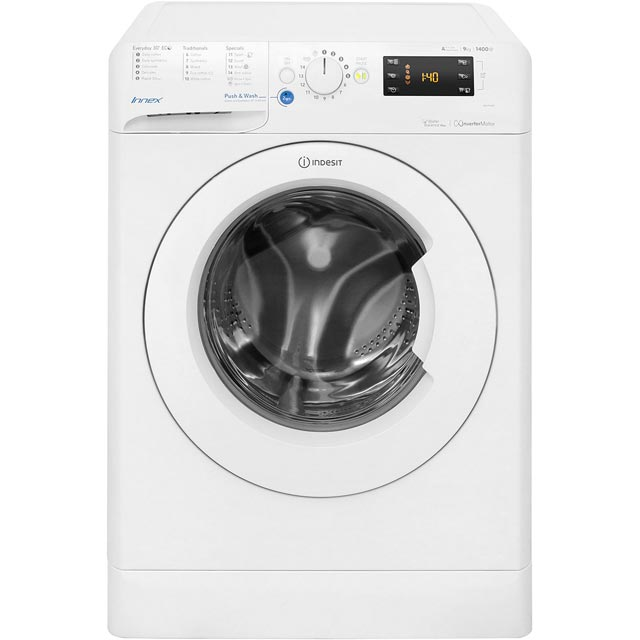 Indesit BWE91484XWUK 9Kg Washing Machine with 1400 rpm - White - A+++ Rated - BWE91484XWUK_WH - 1