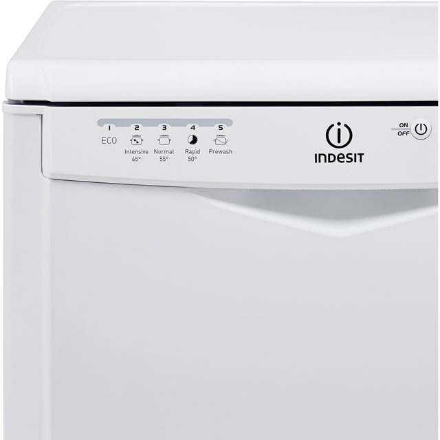 Indesit Eco Time DFG15B1K Standard Dishwasher - Black - DFG15B1K_BK - 2