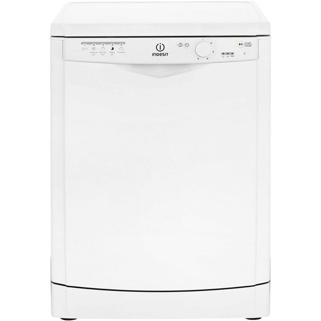 Indesit Eco Time DFG15B1 Standard Dishwasher - White - A+ Rated