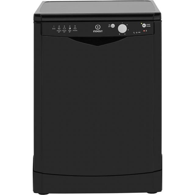 Indesit Eco Time DFG15B1K Standard Dishwasher - Black - A+ Rated - DFG15B1K_BK - 1