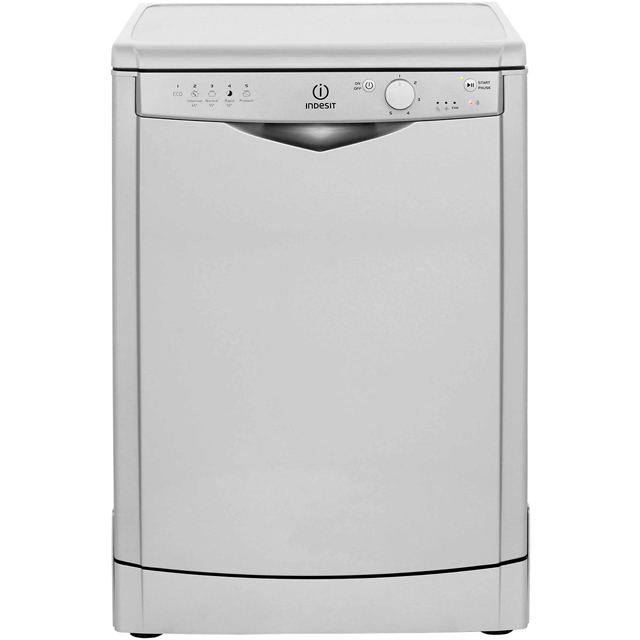 Indesit Eco Time DFG15B1S Standard Dishwasher - Silver - A+ Rated - DFG15B1S_SI - 1