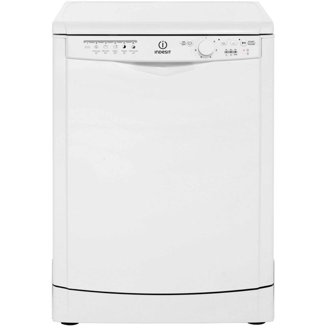 Indesit My Time DFG26B1 Standard Dishwasher - White - A+ Rated - DFG26B1_WH - 1